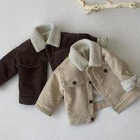 Çocuk Erkek Kız Sıcak Ceket Uzun Kollu Katı Renk Sonbahar Bebek Coat Kalınlaşmak Giyim Rahat Aby Kız Giysileri Kış 201030