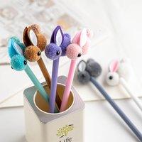 Yeni Yaratıcı Karikatür Tavşan Hızlı Kuru Nötr Kalem Siyah 0.5mm İmza Kalem Yaygın olarak kullanılan ofis mobilya yazma kalem ZY1617