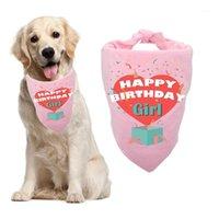 Poliéster de algodão animal de estimação bandana cães birthdayriangular scarf babadores para pequenos animais de estimação médio1