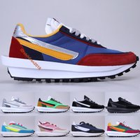 LD Waffle Correndo Tênis Para Homens Mulheres 2019 Classic Sneakers Varsity Blue del Sol Varsity Vermelho Pinho Verde Summit White LDwaffle Trainers