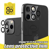 Защитный экран камеры для iPhone 12 Mini 11 Pro Max X XS XR Полное закрытое стекло