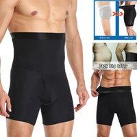 الرجال البطن السيطرة السراويل عالية الخصر التخسيس داخلية الجسم المشكل سلس البطن حزام الملاكم ملخصات البطن السيطرة السراويل