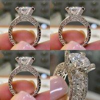 Kuş Kristal Rhinestone Yüzükler Mücevherat Lady Moda Kaplama Gümüş Nişanlı Yüzük Avrupa Amerika Amerika Yeni Desen 3 2HJ J2