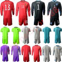 2020 Homens Kit Manga Longa Espanha Equipe de Futebol Nacional 20 21 Guarda-redes Jersey Casillas de Gea Kit Adulto Home Away Sets Uniform
