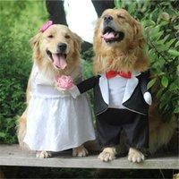 Costume da cane per la festa di nozze Big Dog vestiti per piccoli cani medi cani costume costume vestito Princess Prince Golden Retriever 201102