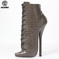 Jialuowei 18см Экстремальные насосы на высоких каблуках Балетные ботинки размером 36-461
