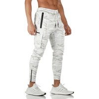 Camo Jogger Hosen Herren Herbst Laufen Jogginghose Multi-Pocket-Track Pants Gym Fitness Trainingshose Male Sport Workout Hose