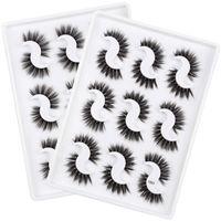 SHIDISHANGPIN 3D MINK REELASH Коробки для ресниц для глаз Упаковочная коробка 9 пар Натуральный макияж