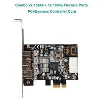 3 منافذ COMBO 2X 1394B + 1X 1394A منافذ FireWire PCI-Express تحكم بطاقة Ti XIO2213B شرائح منخفضة الملف الشخصي Bracket1