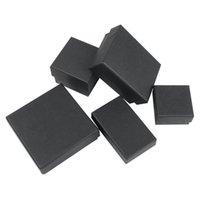 Vintage DIY Kraft Kağıt Kutusu Bayan Kolye Takı Konteyner Siyah Süsler Ambalaj Hediye Durumda Sıcak Satış YENI 1 3LS10 L2