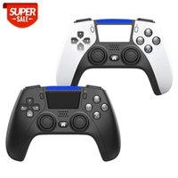 Drahtloser Controller für PS4 / PC / Android-Telefone Gamepad-Joystick mit Dual Motor Gyro Touchpad Audio-Jack-Lautsprecher Freigabetaste LED # TK8J