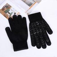 Толстые сенсорные вязание Теплые перчатки Сенсорный экран Волшебная акриловая перчатка Мобильный телефон Универсальный сенсорный экран Перчатки высокого качества 130 N2