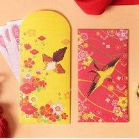 8 unids Flor y Pájaro Impreso Paquete Rojo Literario Año Nuevo Boda Sobres Rojo Festival de primavera Sello Lucky Sello Nueva Llegada