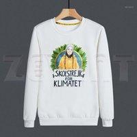 남성용 후드 티 스웨터 그레타 Thunberg 환경 보호 망 디자인 재미 있은 인쇄 까마귀 남자 패션 캐주얼 스웨터 1