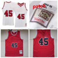 Männer 45 Michael Mitchell Ness weiß 1994-95 Home Authentic Jersey S-6XL