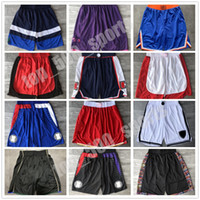 Top Qualität ! Team Basketball Shorts Männer Shorts Sport Shorts College Hosen Grün Weiß Blau Rot Schwarz Ed