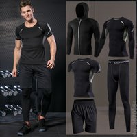 Men's Tight Sportswear Suits Running Sport Sets Jogging Compression Sports Clothing Training Pants Fitness Jacket Workout Shorts