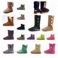 2021 Moda Kadınlar Avustralya Mini Bailey II Klasik Düz Düğme Kısa Kar Botları Peluş Bayan Kış Diz Ayakkabı A9JK #