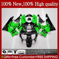 Bodys för Honda CBR 893RR 900RR CBR893RR 1994 1995 1996 1997 95HC.72 CBR893 CBR900 CBR 900 893 RR CBR900RR 94 95 96 97 Fairing Green Black