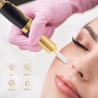 Новый 2in1 мезо инъекций нагнетательного Гиалуроновая Pen 0.3ml0.5ml Head Gold Hyaluronique кислота Pen Lip Filler Jnjector неинвазивный Распылитель
