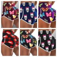 Külot Iç Çamaşırı kadın Spor Tayt Yüksek Bel Yaz Şort Külot Şort Boxer Plaj Swim Sandıklar Pantolon Graffiti Tasarım Kısa G12608