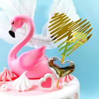 Decoraciones de fiesta de cumpleaños Acrílico Torta Plugin Feliz Cumpleaños Tarjeta 13-17cm Decoraciones de pastel Decoración para hornear Decoración de la pastel Bandera HWB1556