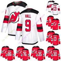 2021 2020 New Jersey Devils Ice Hockey Jersey Jack Hughes Taylor Hall Nico Isshier Martin Brodeur P. K. Subban Cory Schneider Size S-3XL