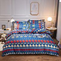 Set di biancheria da letto 3 / 4pcs stile Bohemian BedClothes Cover Duvet Trapunta Set Biancheria da letto Lenzuola Luxury Queen Twin regalo per ragazze / ragazzi