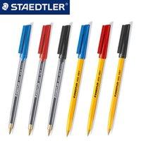 Staedtler Stick 430 M Ballpoint Pen 0.7mm 10pcs lot Red Blue Black Shool & Office Supplies 201202