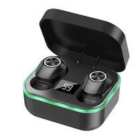 M8 Дыхание света Bluetooth Наушники, V5.1 True Беспроводные Отпечатки пальцев Наушники Наушники Светодиодные Светодиодные Витрины Спортивная гарнитура