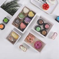 Blanc transparent biscuit pâtisserie boîte couvre-cadeau couvre-cadeau cuisson emballage boîte boîte cadeau boîte personnalisée vtky2238