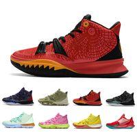nike kyrie irving 7 SpongeBob Patrick Squidward Bay Krabs 7 erkek basketbol ayakkabıları 7'ler Sünger Sandy erkekler açık eğitmenler spor ayakkabı 40-46