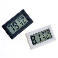 Schwarz / Weiß FY-11 Mini Digital LCD Umwelt Thermometer Hygrometer Luftfeuchtigkeit Temperaturmesser im Zimmer Kühlschrank Eisbox