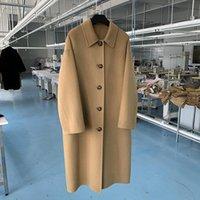 20 개의 새로운 겨울 대기 계약 한국 수동 양면 양면 코트 긴 천으로 코트 드레스