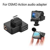Dual USB-C a 3.5mm Mic Microfone Adaptador de Áudio para DJI OSMO Ação Câmera Suporte Bateria Carregamento de Dados Transferência de dados1