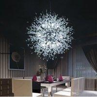 Diente de león moderno LED Luz de techo CRISTAL CHANDELIERS Iluminación Lámpara colgante de bola para comedor para comedor Dormitorio Living Fixture