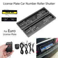 자동차 유로 러시아 숨기기 장치 스텔스 셔터 번호판 홀더 프레임 자동차 번호 롤러 보호 커버