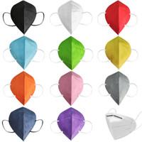 KN95 Máscaras Blanco Negro Negro Azul Gris Mascarilla a prueba de polvo Diseñador No tejido A prueba de viento Anti-polvo Respirador Tela Facenas de protección para hombres Mujeres al por mayor