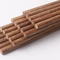 Vernik Wax bulaşığı Yemek takımı Çin Klasik Stil Yeniden kullanılabilir Doğal Suşi Chopsticks KKA8157 olmadan Doğal Ahşap Chopsticks