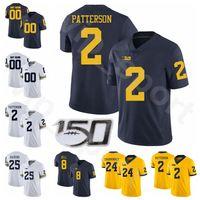 كلية رجل امرأة الاطفال NCAA كرة القدم 24 زاك Charbonne جيرسي ميشيغان ولفرينس 2 شي باترسون 25 حسن هاسكينز روني بيل ترو ويلسون