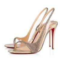 Zarif Kırmızı Alt Optislings Glitter PVC kadın Yüksek Topuklu Düğün Parti Bridals Yüksek Kalite Markalar Bayan Sandalet EU35-43, Kutu