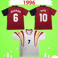 Spain Camiseta de futbol Spanien Retro Fußballtrikot 1996 klassisches Fußballtrikot Vintage 96 Heimspiel DONATO AMAVISCA GUERRERO PIZZI ALFONSO HIERRO
