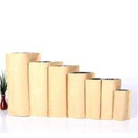 1000 unids con cremallera marrón kraft de aluminio bolsa, soporte de papel kraft papel de aluminio bolso de aluminio resellable con cierre de cremallera Sello de agarre FO JLLLXHD Warmslove