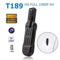 T189 HD 1080P Mini Pen Cámara Micro DV DVR Video Vide grabadora de voz Detección de movimiento Micro Sport Pocket Cop Cam Cam SQ111