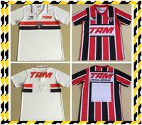 1993 Retro-Version Sao Paulo Soccer-Trikots 1993 1994 Away rot Schwarz-Fußball-Hemd Kurzarm Custom Football Uniform Sale