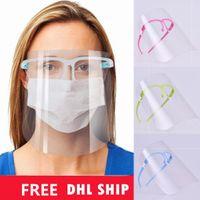 الولايات المتحدة الأسهم وجه درع شفافة كامل الوجه غطاء النفط-سبلاش دليل مضاد للأشعة فوق البنفسجية واقية واقية مع إطار زجاجي مضاد للضباب أقنعة الوجه