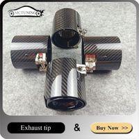 1 pieza Titanium Negro Punta de escape para M Pipa de silenciador M2 F80 M3 F82 F83 M4 Accesorios para automóviles Longitud 90mm1