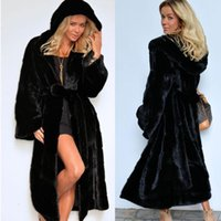 Pelliccia femminile Faux Jane Deiune 2021 Cappotto di donne invernali con cappuccio Lady Addensare Peluche Stile di Peluche Soprabito Soprabito caldo Trench Moda Outwear
