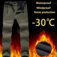 Outdoor hosen männer frauen winter thermisch plus samt wasserdicht winddicht lose warme skifahren hosen klettern sanftshell pants1