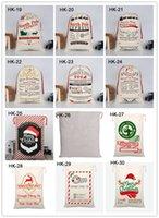 عيد الميلاد سانتس حقيبة قماش حقيبة كاندي للحصول على هدايا للأطفال بابا نويل حقيبة هدايا عيد الميلاد حقائب 38 أنماط EEE2694